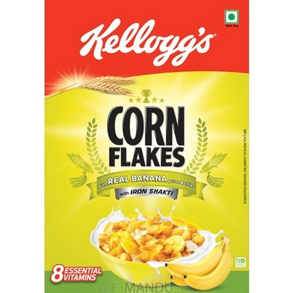 Kellogg's Corn Flakes with Real Banana Puree & Chips