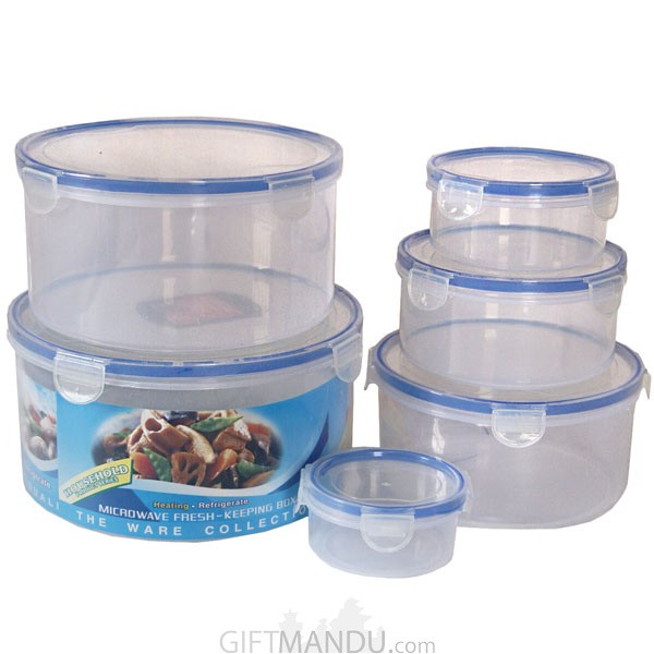 Microwave Fresh Keeping Lunch Box (Round Shape)