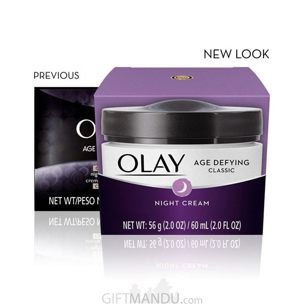 Olay Age Defying Classic Night Cream, Face Moisturizing