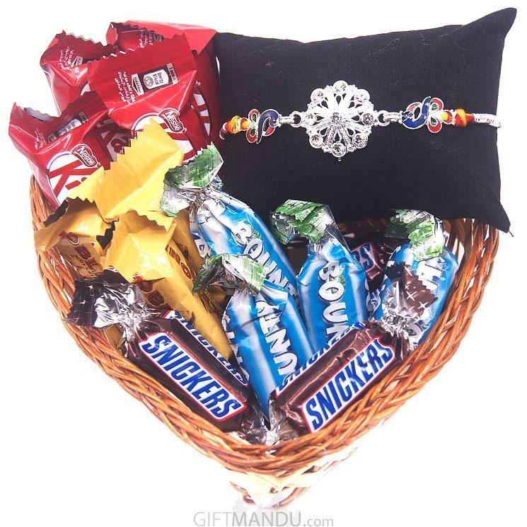 Rakhi & Chocolates Mini Basket