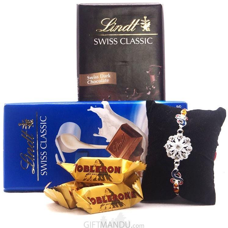 Lindt Chocolate Swiss Bars With Rakhi