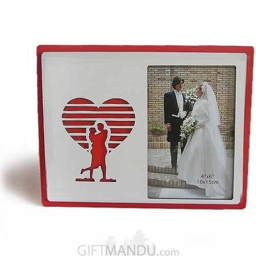 Red Couple Single Photo Frame  - Table Top