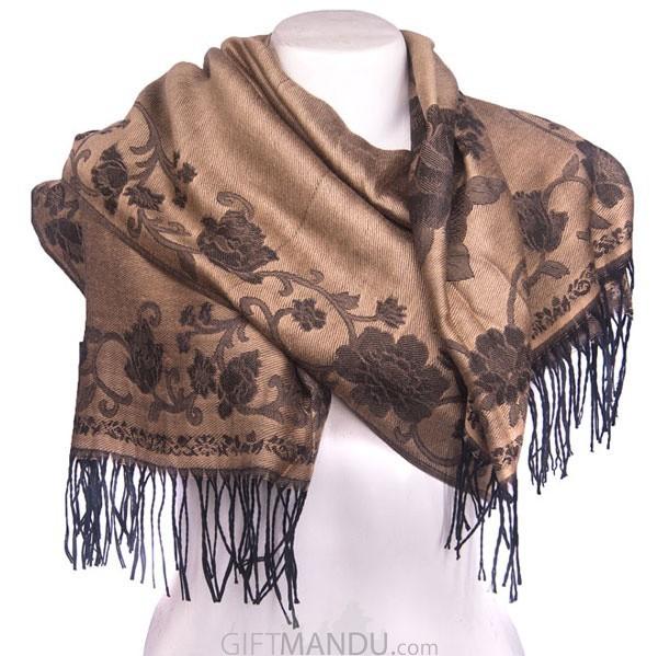 Women Soft Luxurious Scarf - Brown