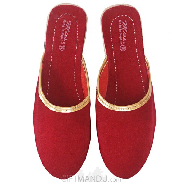 Ladies Makhamali Slipper (Haflinger Size 7, 8, 9)