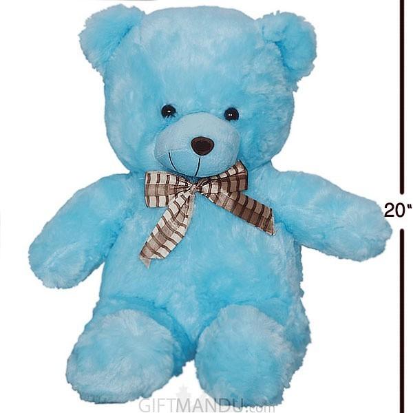 """Valentine Love Teddy Bear Sky Blue 20"""""""