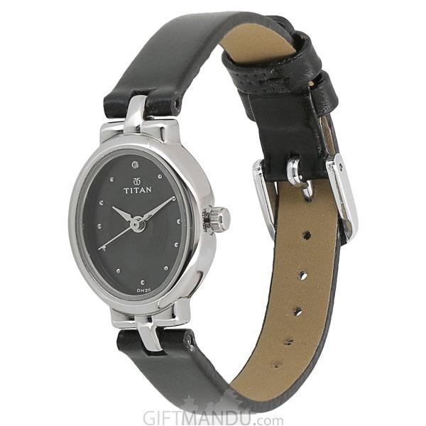 Titan Analog Black Dial Women's Watch - 2594SL01
