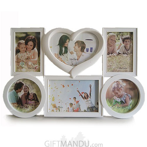 Valentine Love 6 in 1 Collage Pictures Frame
